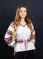Нежная и сдержанная женская вышитая рубашка от мастеров волынского края