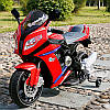 Детский мотоцикл  BMW STYLE M 2769 E-2-3: EVA, 6 км/ч, черно-красный-купить оптом детские мотоциклы