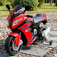Детский мотоцикл  BMW STYLE M 2769 E-2-3: EVA, 6 км/ч, черно-красный-купить оптом детские мотоциклы, фото 1