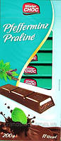 Черный шоколад Mister Chok с мятной начинкой 200 г