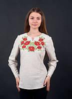 Красивая и изящная рубашка с вышитым тканым узором от волынских мастеров