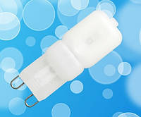 Светодиодная лампа Biom G9 3W  PC 3000K AC220  (пластик)