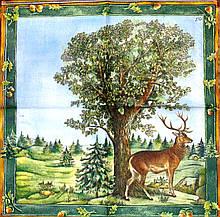 Декупажные салфетки олень на поляне 361