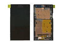 Дисплей для Sony LT26i Xperia S + touchscreen, чёрный, с передней панелью