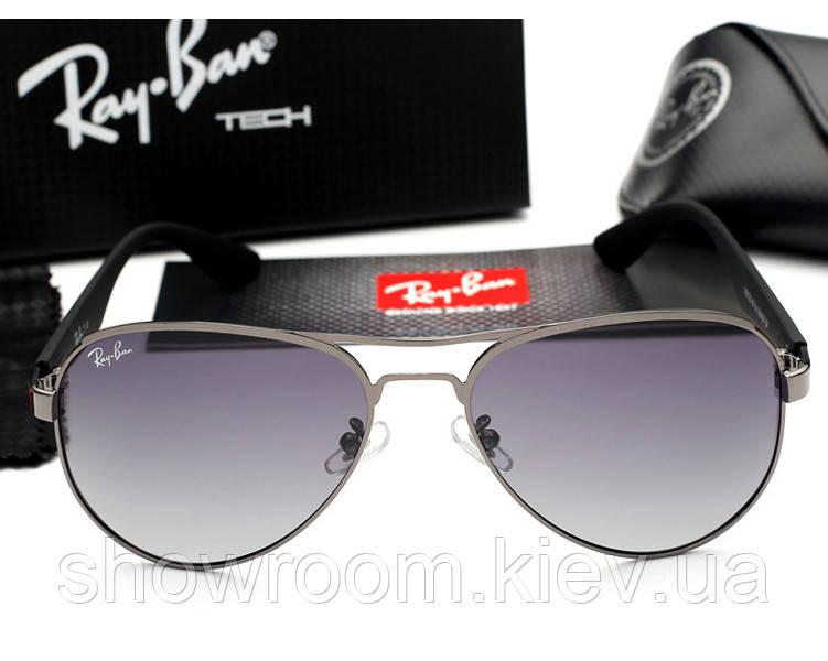Женские солнцезащитные очки в стиле Ray Ban 3523 grey
