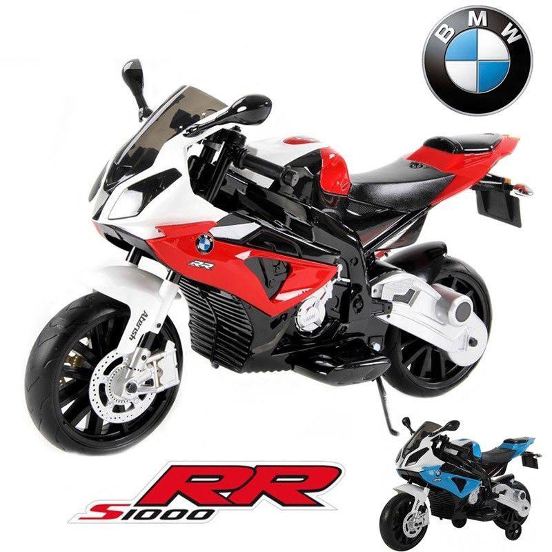 Детский мотоцикл BMW MOTOR S 1000 RR: 12V, 90W, 6 км/ч черно-красный-купить оптом детские мотоциклы