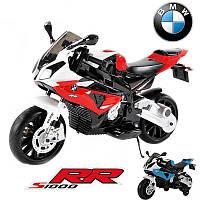 Детский мотоцикл BMW MOTOR S 1000 RR: 12V, 90W, 6 км/ч черно-красный-купить оптом детские мотоциклы, фото 1