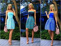 Короткое летнее платье-бандо мод.169