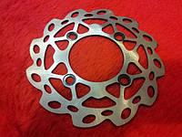 Лепестковый тормозной диск для питбайка Kayo, креплений - 4 болта CRF
