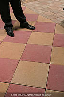 Тротуарная плитка цвет на сером цементе  (400\400)