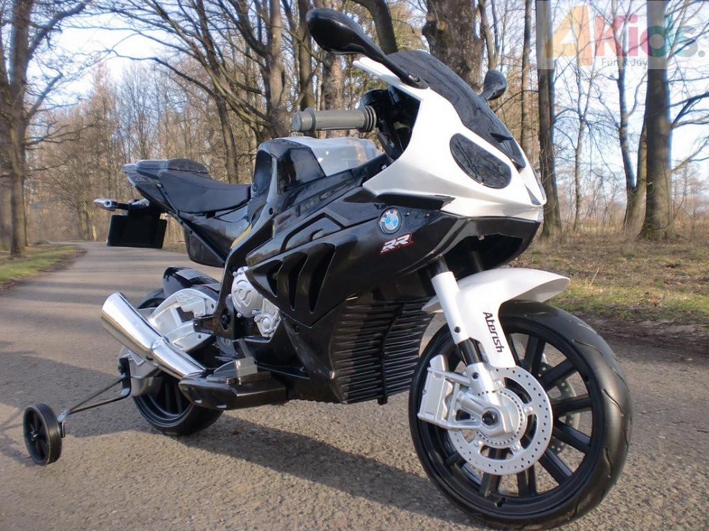 Детский мотоцикл BMW MOTOR S 1000 RR: 12V, 90W, 6 км/ч черный-купить оптом детские мотоциклы