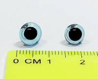 Глазки стеклянные №90 11 мм голубые (100шт/уп)