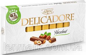 Молочный шоколад  DELICADORE Baron «Hazelnut» (орех) 200г