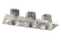 Врезные светильники SQUARE ELS166Rx3/105W  15°/24°/40°/, 3000K/4000K/5000K, фото 1