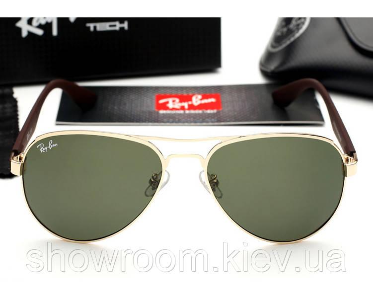 Женские солнцезащитные очки в стиле Ray Ban 3523 gold