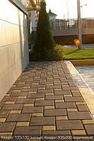 Тротуарная плитка Коричневая (Квадрат 100\100)