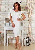Женское нарядное белое платье  42, белый