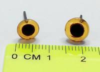 Глазки стеклянные №140 13 мм карие (100шт/уп)
