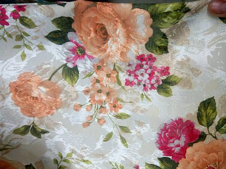 "Ткань ""Цветочный сад""  Цвет 1 (жаккард)., фото 2"