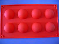 Форма силиконовая полусферы маленькие из 8 шт.
