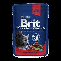 Brit Premium Beef Stew & Peas (Брит Премиум Говядина Горох), 24х100 гр