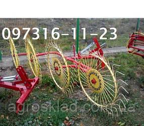 "Грабли-ворушилка ""Солнышко"" на 4 колеса PZ-204"