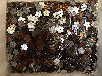 Камни пришивные, цветок 2000шт в упаковке, цвет оранжевый