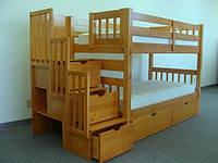 Двухъярусная кровать трансформер с ящиками - Кемпинг, фото 1