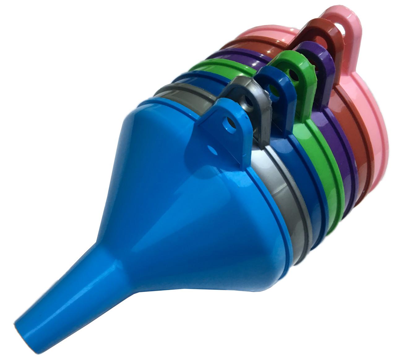 Лійки воронки побутові (D=132mm) пластик, різні кольори