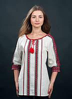 Нарядная женская вышиванка с волынским тканым узором