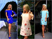 Женское летнее платье с вышивкой мод.170 (р.42)