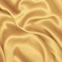 Атлас однотонный плотный - цвет светлое золото