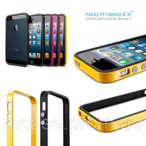 buy online 0d45e 2bae0 Бампер Spigen SGP Копия Neo Hybrid EX Slim Metal для iPhone 5/5S/5c/SE