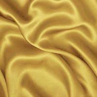 Атлас однотонный плотный - цвет золото (оливковый оттенок)