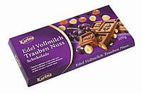 Молочный шоколад Karina «Edel Vollmilch Trauben Nuss» с цельным лесным орехом и изюмом 200 г