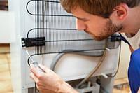 Устранение шума регулировка трубопроводов, амортизаторов холодильника