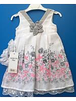 Платье нарядное с повязкой для девочки от 6ти месяцев до 2х лет