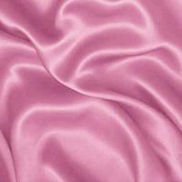 Атлас однотонный плотный - цвет бледно-розовый