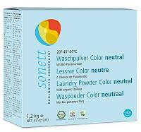 Органический концентрированный порошок Sonett для стирки цветных тканей 1,2 кг