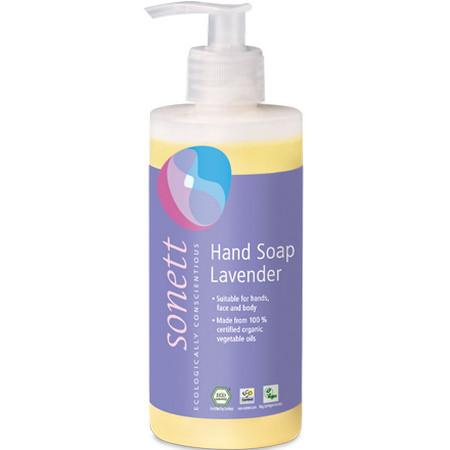Органическое лавандовое жидкое мыло Sonett для мытья рук и тела 300 мл