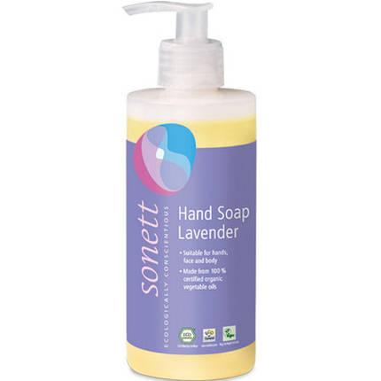 Органическое лавандовое жидкое мыло Sonett для мытья рук и тела 300 мл, фото 2