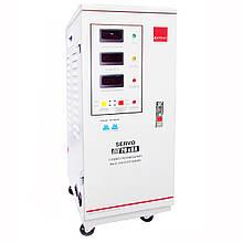 Однофазный сервоприводный стабилизатор напряжения Елтис SERVO 20000 LED
