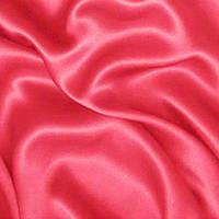 Атлас однотонный плотный - цвет розовый неоновый