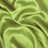 Атлас однотонный плотный - цвет оливковый
