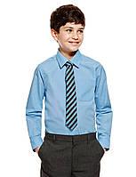 Школьная рубашка голубая длинный рукав Easy to Iron Marks&Spencer (Англия)