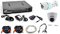 Комплект відеоспостереження на 2 камери 1080P AHD