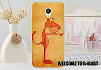 Чехол силиконовый бампер для Meizu M3 Note с рисунком Розовая Пантера