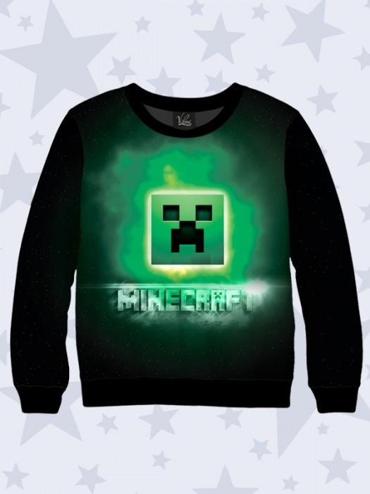 Свитшот Майнкрафт логотип (Minecraft)
