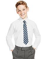 Рубашка школьная белая с длинным рукавом на мальчика 11 лет Non-Iron Marks&Spencer (Англия), фото 1
