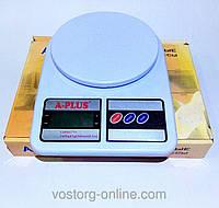 Кухонные весы А-Плюс 292. Электронные кухонные весы. Точный вес. Готовим вкусно. Весы кухонные